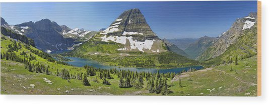 Hidden Lake In Glacier National Park Wood Print