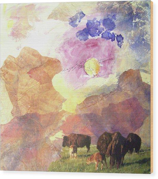 Hidden Plateau Wood Print by MtnWoman Silver