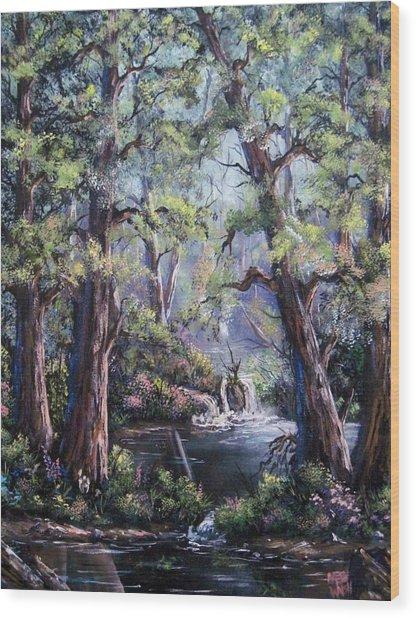 Hidden Waters Wood Print
