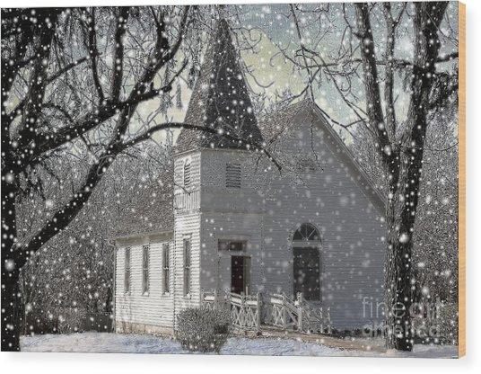 Higgensville Church Wood Print