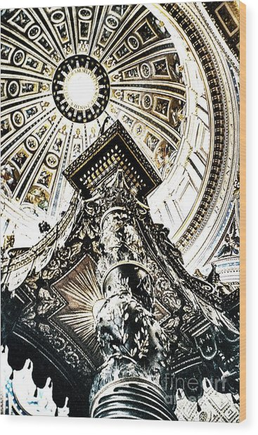 High Altar And Dome Wood Print by Kim Lessel