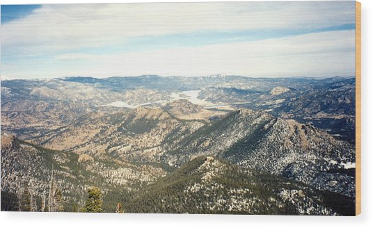 High Altitude View Wood Print