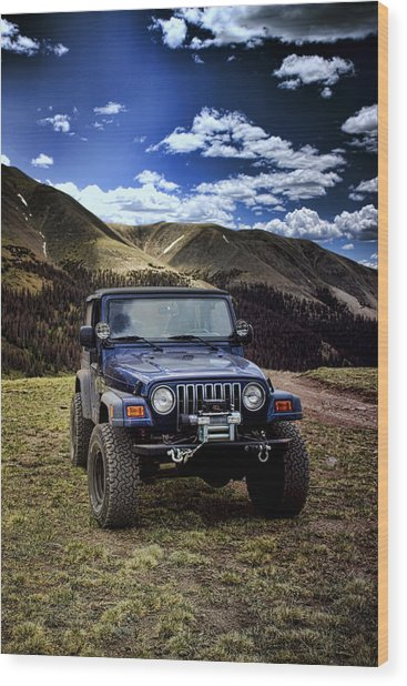 High Country Adventure Wood Print