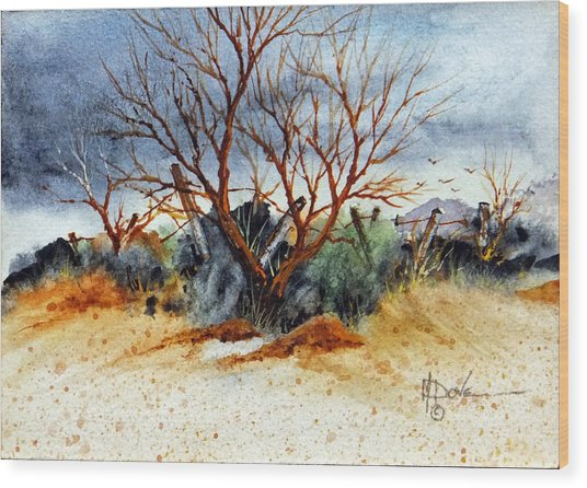 High Desert Experience Wood Print
