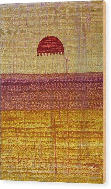 High Desert Horizon Original Painting Wood Print