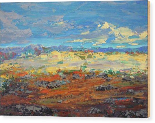 High Desert Wood Print by Marilyn Hurst
