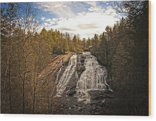 Wood Print featuring the photograph High Falls by Ben Shields