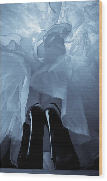High Heels And Petticoats Wood Print