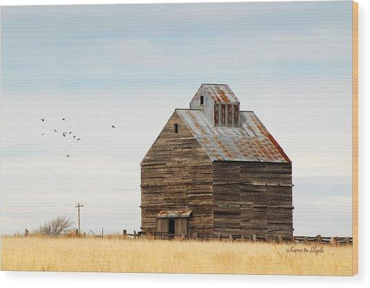 High Plains Autumn Wood Print