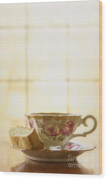 High Tea Wood Print
