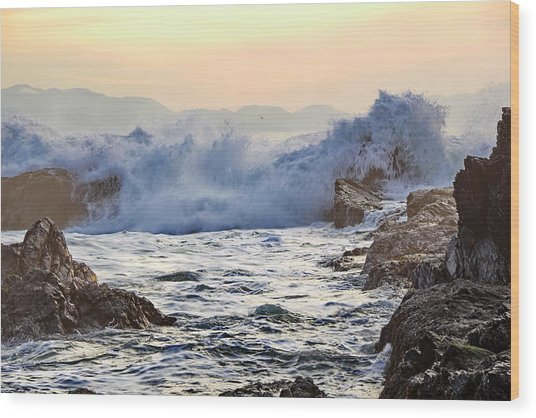High Tide At Port Renfrew Wood Print