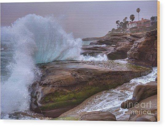 High Tide At Windansea Beach Wood Print