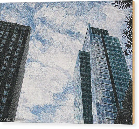 Higher Sight Wood Print by Aeabia A