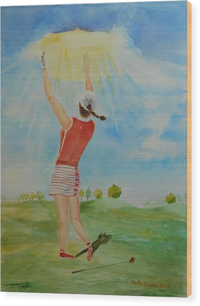 Highest Calling Is God Next Golf Wood Print