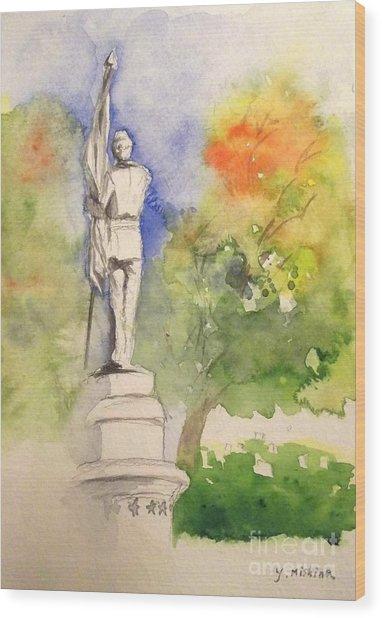 Highland Cemetery-plein Air-ypsilanti Michigan 1 Wood Print