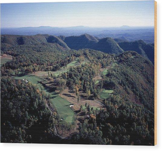 Highland Course At Primland Wood Print