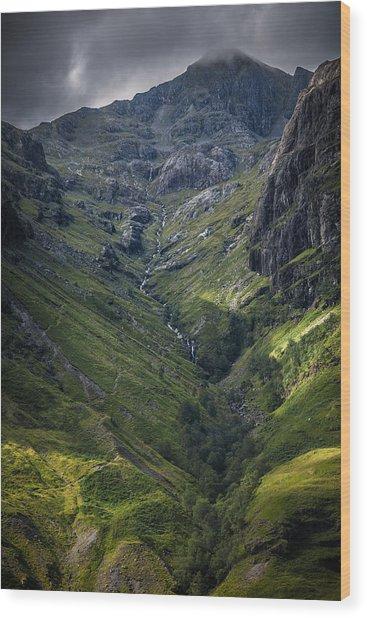 Highland Crevasse Wood Print