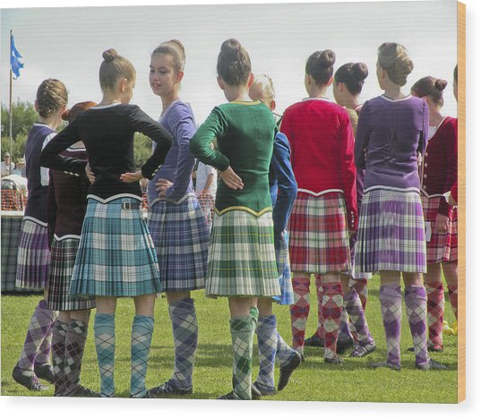 Highland Dancers Scotland Wood Print