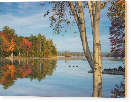Highland Lake Wood Print