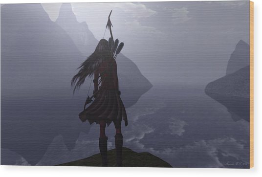 Highland Lass Wood Print