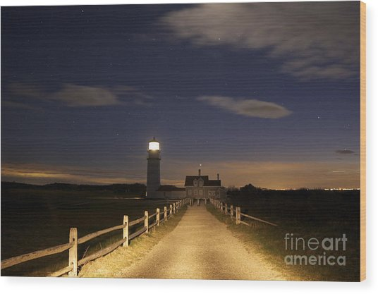 Highland Light North Truro Wood Print