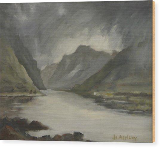 Highland Storm Wood Print