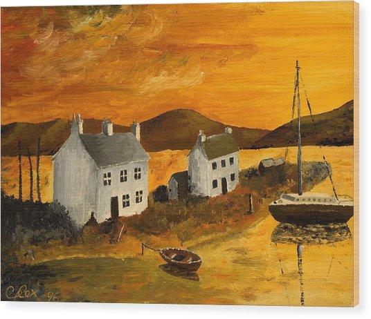 Highland Sunrise Wood Print