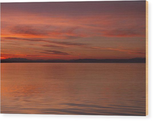 Highland Sunset Wood Print by Karl Normington