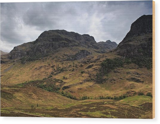 Highland View Wood Print