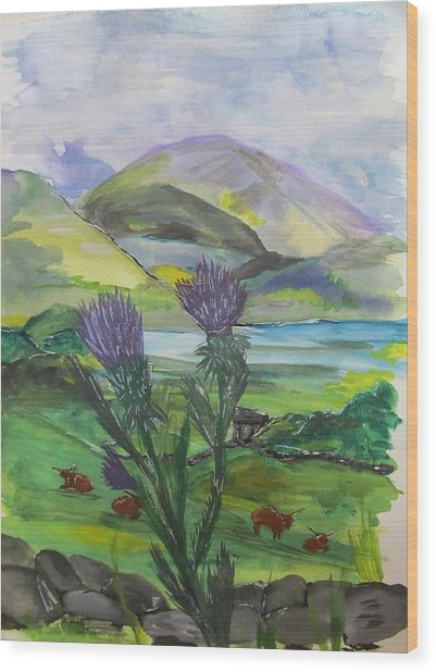 Highlands Wood Print