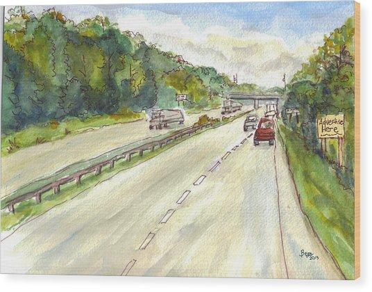 Highway 95 Wood Print