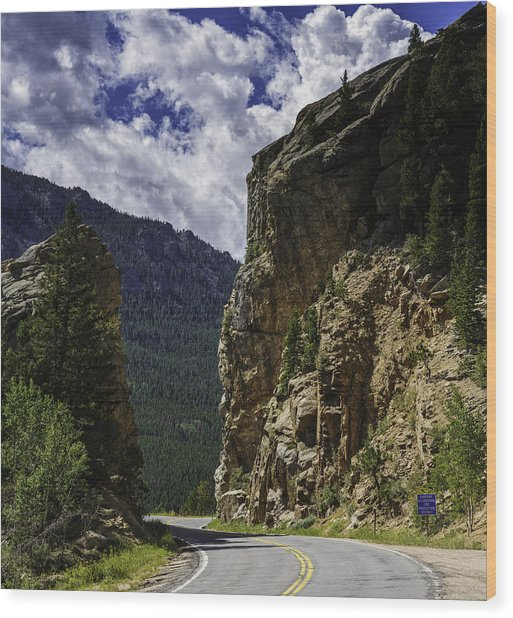 Highway To Heaven Wood Print by Tom Wilbert