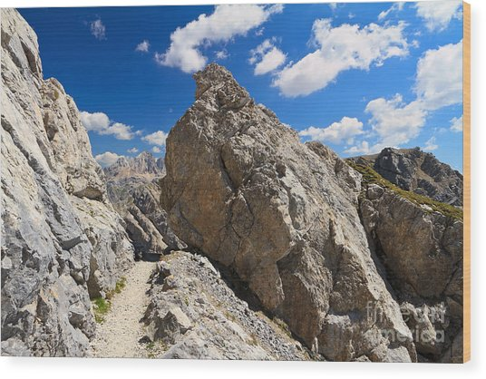 hike in Dolomites Wood Print