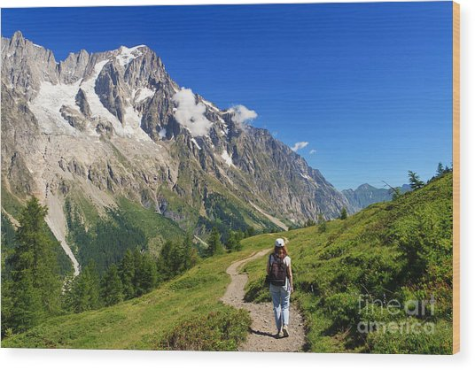 hiking in Ferret Valley Wood Print