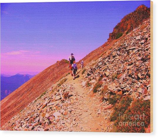 Hiking To Paradise Wood Print