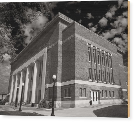 Hill Auditorium Wood Print