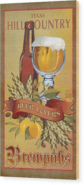 Hill Country Brewpubs Wood Print