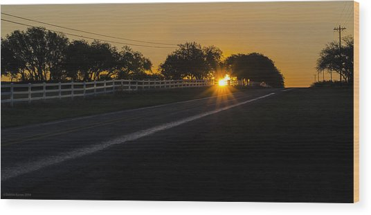 Hill Country Sunrise 2 Wood Print