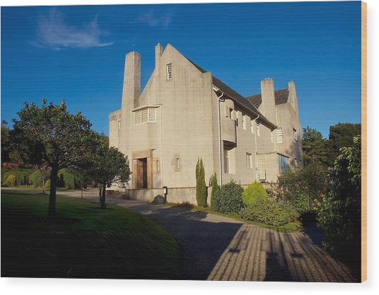 Hill House By Charles Rennie Mackintosh Wood Print