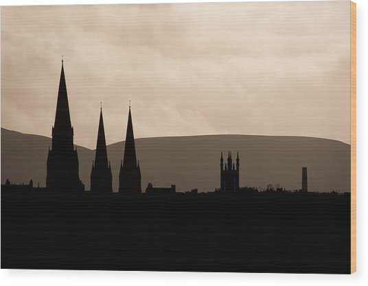 Hills And Spires Wood Print