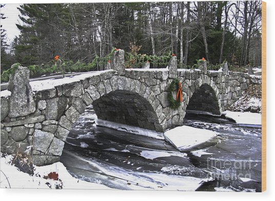 Hillsborough Stone Bridge Wood Print