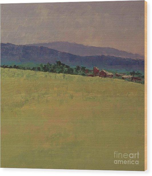 Hilltop Farm Wood Print