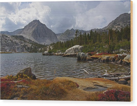 Hilton Creek Lakes By Frank Lee Hawkins Wood Print