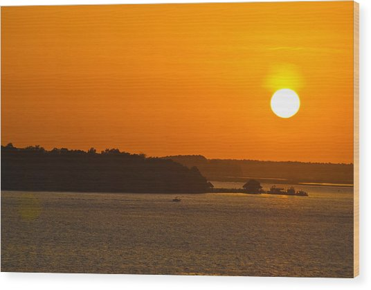 Hilton Head Island Sunset Cit 13 Wood Print
