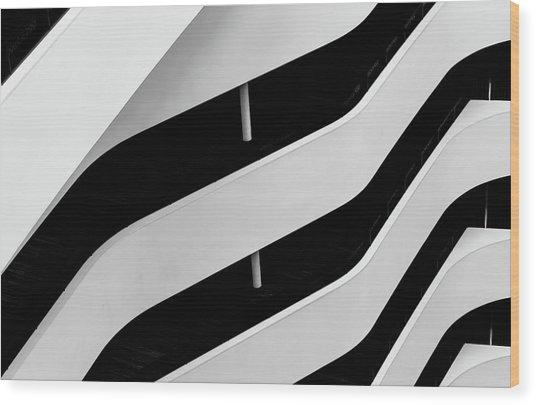 Hilton Lines-1 Wood Print