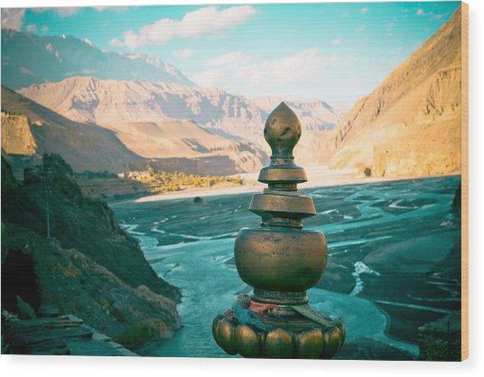 Himalayas Road To Upper Mustang  From Kagbeni Wood Print