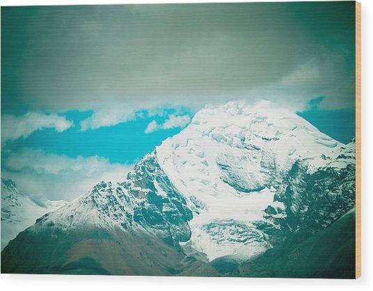 Himalyas Range Closeup View From Tibet Wood Print