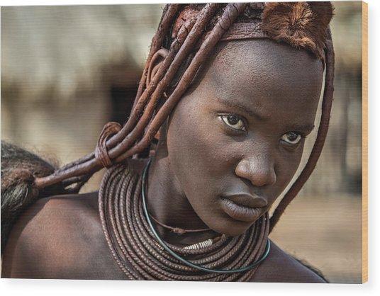 Himba Girl Wood Print