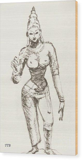 Hindu Goddess Sivakami Wood Print