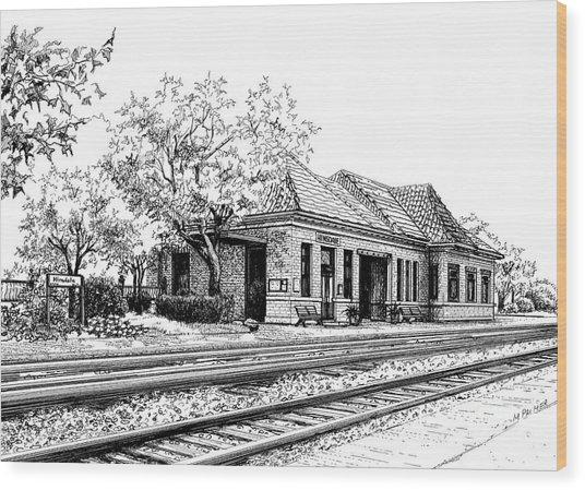 Hinsdale Train Station Wood Print